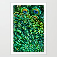 Peeping Eyes Art Print