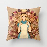 Curious And Curiouser Throw Pillow