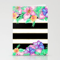 Stylish Black White Gold… Stationery Cards