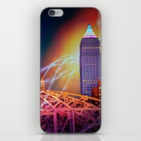 Moonbeams Over The Bridge iPhone & iPod Skin