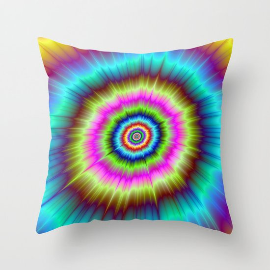 Tie Dye Explosion Throw Pillow