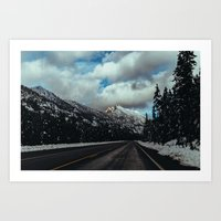 Driving In The North Cas… Art Print