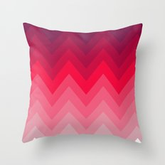 PINK OMBRÉ CHEVRON Throw Pillow