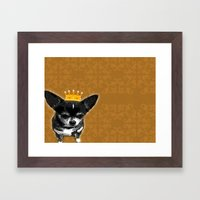Chihuahua Queen Framed Art Print