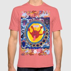 Irrevence Mandala SMALL Pomegranate Mens Fitted Tee