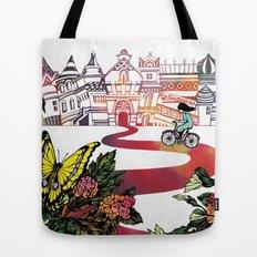 Summer Cycling Tote Bag