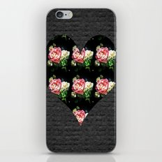 Simple Heart Floral iPhone & iPod Skin