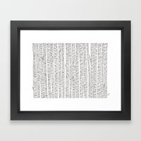 Lost In Stripes Framed Art Print