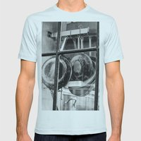 New Orleans - Window to a French Quarter Gourmet Kitchen Mens Fitted Tee Light Blue SMALL