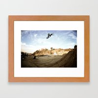 Taka Higashino's Doublegrab Backflip, FMX Japan  Framed Art Print