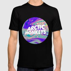 Arctic Monkeys Logo Mens Fitted Tee Black SMALL