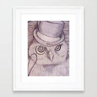 Professor Owl Framed Art Print