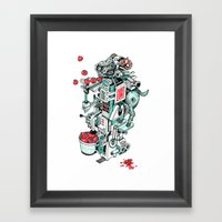 Tomato Shooting Goat Mac… Framed Art Print