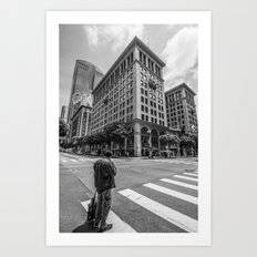 Alone In LA Art Print