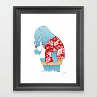 Ele' Bored Framed Art Print