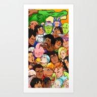 DBZ Main Cast - ORIGINAL Art Print
