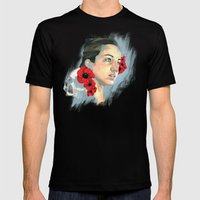 Poppy Of The Sea Mens Fitted Tee Black SMALL