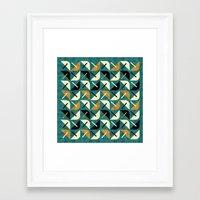 MCM Shroom Framed Art Print