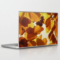 Laptop & iPad Skin featuring Autumn Leaves by Color And Patterns