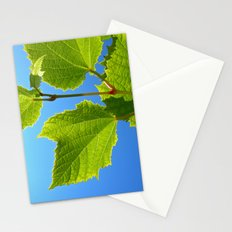 green wine leaf Stationery Cards