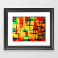Dry Brush Framed Art Print