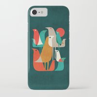 retro iPhone & iPod Cases featuring Flock of Birds by Picomodi