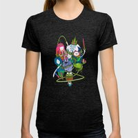 Adventure Time Fan Art C… Womens Fitted Tee Tri-Black SMALL