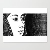 Queen Anne Boleyn Portra… Canvas Print