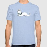 Ermine in Hat & Scarf Mens Fitted Tee Tri-Blue SMALL
