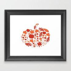 Autumn Pumpkin Print Framed Art Print