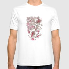 Egon Bondy's Happy Hearts Club Banned Mens Fitted Tee White SMALL
