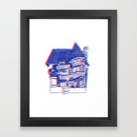 3 Houses Framed Art Print