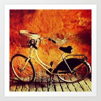 Yellow Cycle Art Print