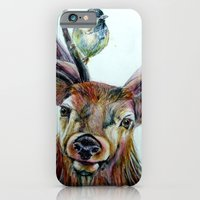 Stag and birds iPhone 6 Slim Case
