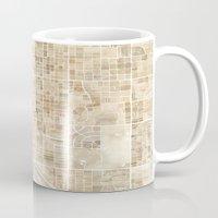 Tucson Arizona watercolor map Mug