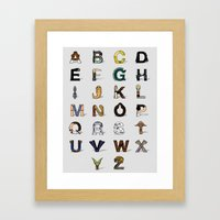 Star W. Alphabet Framed Art Print