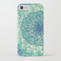 fall iPhone & iPod Cases featuring Emerald Doodle by micklyn
