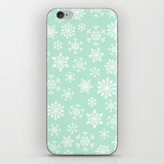 minty snow flakes iPhone & iPod Skin