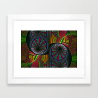 Framed Art Print featuring Tunneling Abstract Fract… by BohemianBound