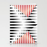 Red, Black & White Stationery Cards
