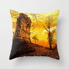 Golden nature Throw Pillow