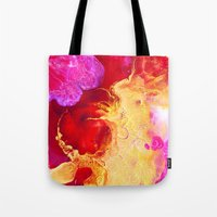 Abstract Painting Red Go… Tote Bag