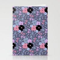 Gray Cherry Stationery Cards
