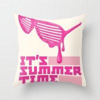 Summer Time. Throw Pillow