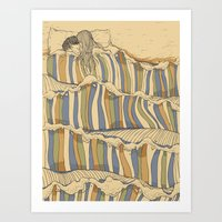 water Art Prints featuring Ocean of love by Huebucket