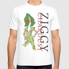 Ziggy Chardust White SMALL Mens Fitted Tee