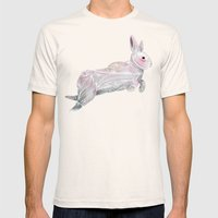 White Rabbit Mens Fitted Tee Natural SMALL