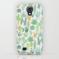 Galaxy S4 Cases featuring Cactus by Abby Galloway