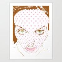 Pop art face Art Print