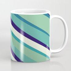 Blue Diagonal : Pattern Mug